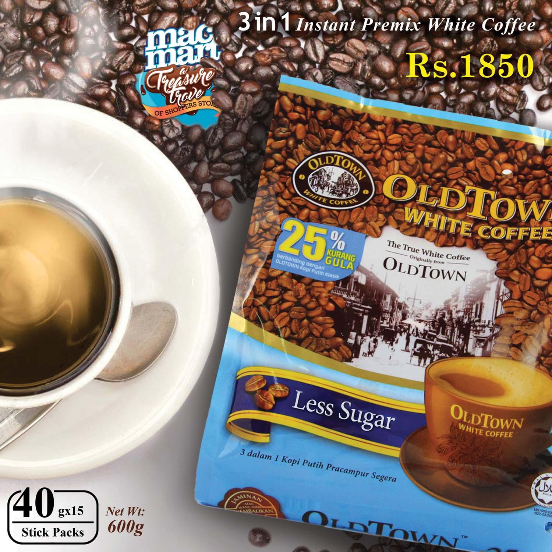 Mac Mart Kopi Wihte Oldtown White Coffee Less Sugar 600g